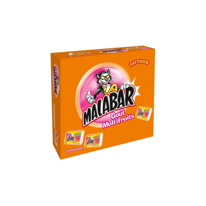 Malabar multifruit chewing-gum 200 pièces